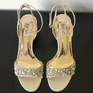 Badgley Mischka Ivanna Crystal Embellished Heels